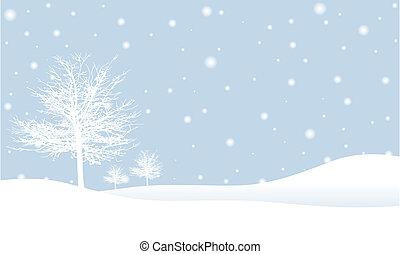 зима, место действия