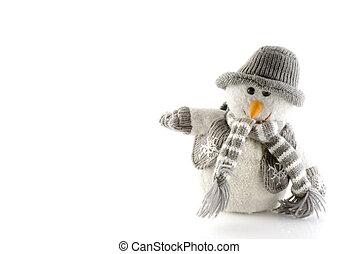 зима, снеговик