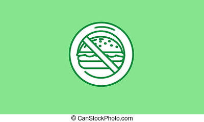 значок, альфа, канал, линия, нет, бутерброд