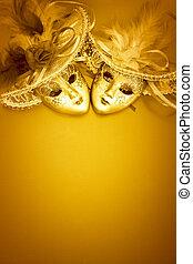 золотой, карнавал, задний план