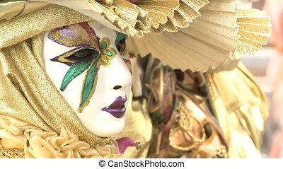 золотой, пара, masked