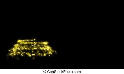 золотой, появляясь, абстрактные, дерево, lights, рождество