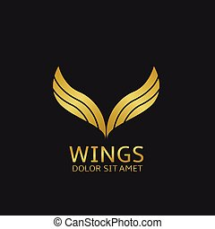 золотой, wings, логотип