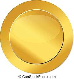 золото, печать, значок, логотип