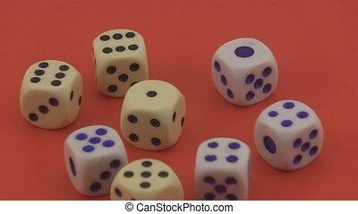 игральная кость, используемый, в, games, of, chance.