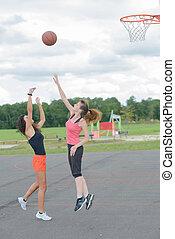 игра, of, баскетбол