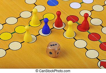игра, of, лудо