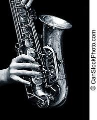 игрок, саксофон