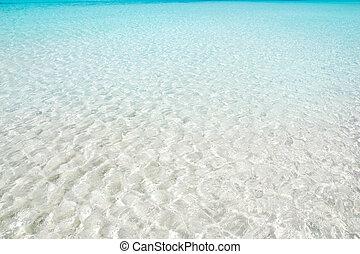 идеально, бирюзовый, воды, песок, белый, пляж