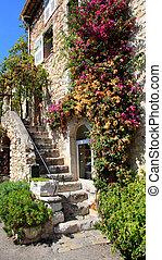 , известный, деревня, of, saint-paul, франция
