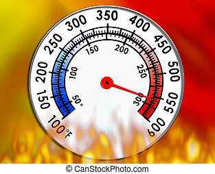 измерительный прибор, температура