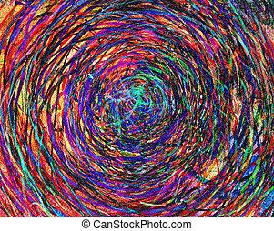 изобразительное искусство, абстрактные, kids, картина