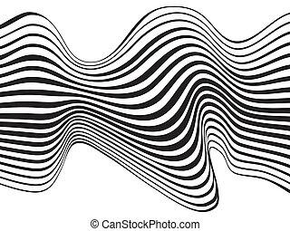 изобразительное искусство, волна, оптический, дизайн, задний...