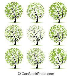 изобразительное искусство, дерево, коллекция, для, ваш,...