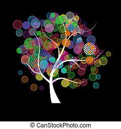 изобразительное искусство, дерево, фантазия