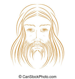 иисус, христос, вектор, иллюстрация