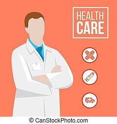 иллюстрация, врач