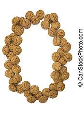 имбирь, орешки, номер, нуль