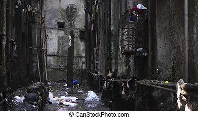индийский, мусор, подпольный