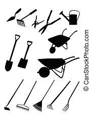 инструменты, сад