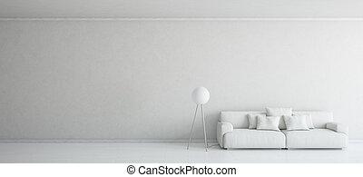 интерьер, белый