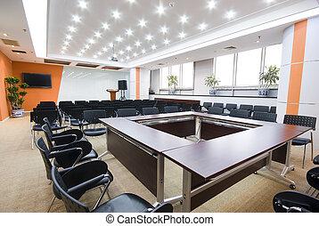 интерьер, зал заседаний совета директоров, современное, офис