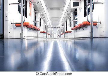 интерьер, к, поезд