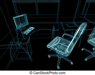 интерьер, современное, офис
