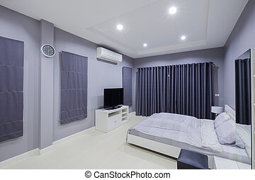 интерьер, современное, спальня