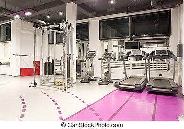 интерьер, of, современное, гимнастический зал
