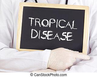 информация, врач, болезнь, тропический, blackboard:, shows
