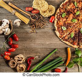итальянский, питание, задний план