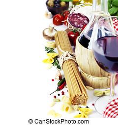 итальянский, питание, and, вино