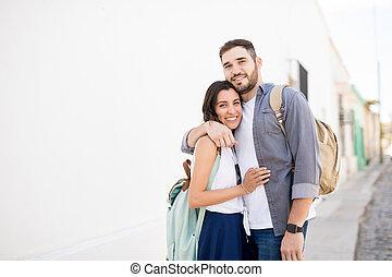 ищу, портрет, пара, камера, счастливый