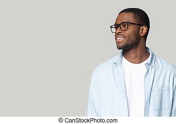 ищу, пространство, американская, человек, glasses, копия, улыбается, африканец