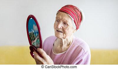 ищу, старшая, женщина, сама, зеркало