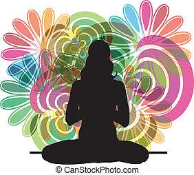 йога, иллюстрация