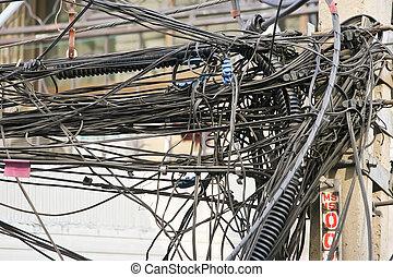 кабель, беспорядок