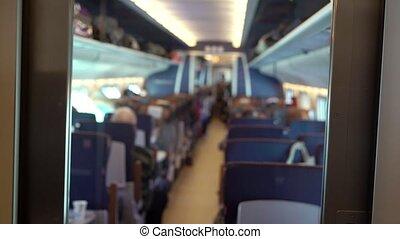 кабина, of, тренер, в, поезд