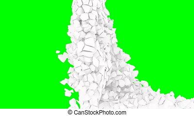 кадров в секунду, маленький, стена, эффект, взрыв, движение, 1000, белый, медленный, зеленый, pieces