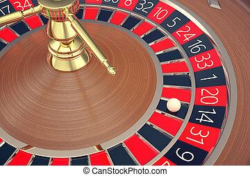 казино, рулетка, game., казино, gambling., концепция, 3d, rendering., , колесо, of, fortune.