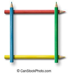 карандаш, рамка