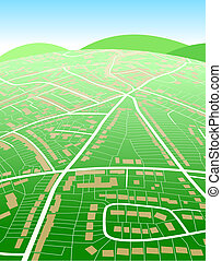 карта, земельные участки