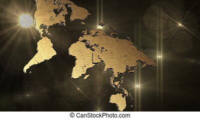 карта, пространство, солнце, flares, lights, мир