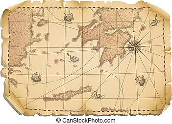 карта, старый