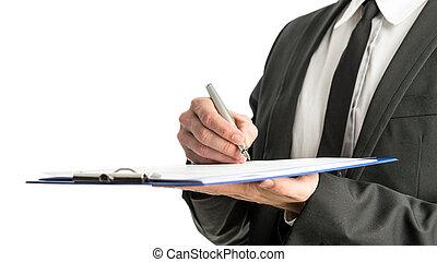 карта, signing, правовой, papers, бизнесмен, боковая сторона, посмотреть