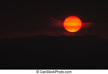 картина, солнце