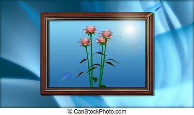 картина, цветок