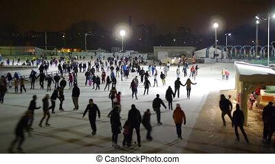 катание на коньках, -, hd, лед