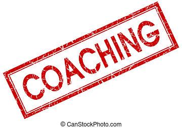 квадрат, печать, isolated, coaching, задний план, шероховатый, белый, красный